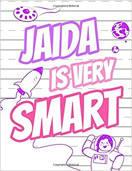 Jaida Is Very Smart: Primary Writing Tablet for Kids Learning to ...