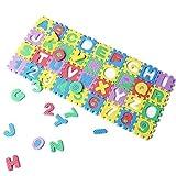 SODIAL(R) 36Pcs Colorful Mini Size Puzzle Kid Educational Toy Alphabet A-Z Letters Numeral Foam Mat