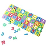 SODIAL(R) 36Pcs Colorful Mini Size Puzzle Kid Educational Toy Alphabet A-Z Letters Numeral Foam Mat