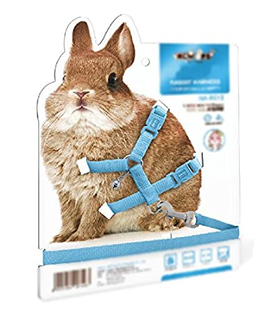 KLOUD CityAdjustable Pet Rabbit Harness Leash Lead with Small Bell