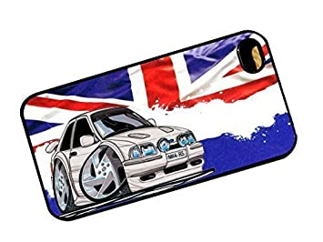 KOOLART Classic British Union Jack, diseño de Old Skool Retro Mk4 Ford Escort RS Turbo RST Coche Duro Caso Funda Compatible con Apple iPhone 5 y 5S: ...