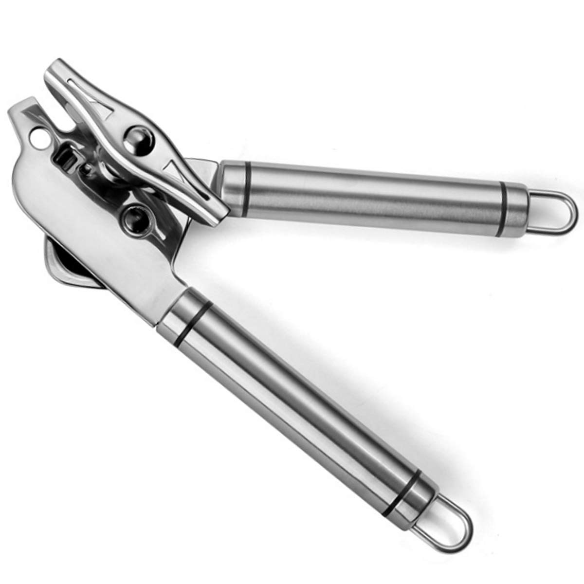 Professional 304 Stainless Steel Can Opener Manual for Seniors With Arthritis Jar Opener and Bottle Opener,Heavy Duty Can Openers Smooth Edge,Hand Can Opener Dishwasher Safe.