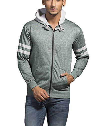 Alan Jones Solid Full Hooded Sweatshirt