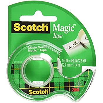 Scotch 3M Magic Tape, 1/2 x 450 Inches (Pack of 12)