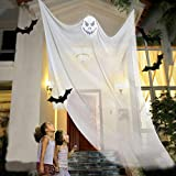 10.8ft Halloween Hanging Ghost Decorations Halloween Hanging Props Scary Halloween Hanging Skeleton Flying Ghost for Outdoor Indoor Home Yard White