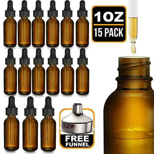 Plastic Amber Dropper Bottle - 1