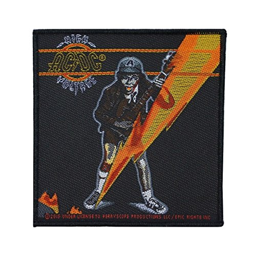AC/DC ACDC High Voltage Lightning Bolt Patch Angus Young Band Sew On Applique by Mia_you