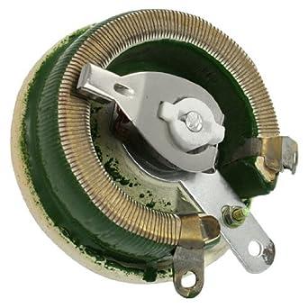 eDealMax 100 vatios 100 Ohm cerámica Disco reostatos resistencia ...