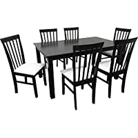 Camden Isle 152842 Fairfax 7 Piece Dining Set in Cappuccino