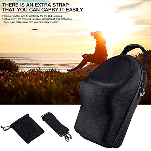 WensLTD For DJI Goggles VR Glasses Case Hard Carrying Bag Hardshell Housing Storage Bag (Black)