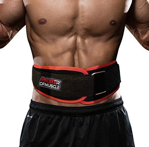 Master of Muscle Workout Weight Lifting Belt for Men and Women – Contoured and Neoprene Lightweight for Comfortable Back Support – Ideal for Squat, Powerlifting, Deadlift Training – DiZiSports Store
