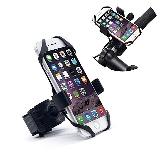 360 Degree Bike Phone Mount,Universal Cellphone Bicycle Rack Handlebar Motorcycle Holder Cradle, iPhone 6 6(+) 6S 6S plus 5S 5C, Samsung Galaxy S3 S4 S5 S6 S7 Note 3/4/5,Nexus,HTC,LG,BlackBerry,Black