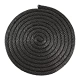 SGT Knots Nylon Rope (1/8 inch) Solid Braid Multipurpose Braided Utility Cord Line - High Strength - Commercial, Anchors, Crafts, Blocks, Pulleys, Towing, Cargo, Tie-Downs (50 feet - Black)
