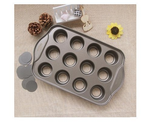 Astra Gourmet 12 Cavity Mini Cheesecake Pan Cupcake Pan Springform Pan Bundt Cake Pan with Removable Bottom, Round