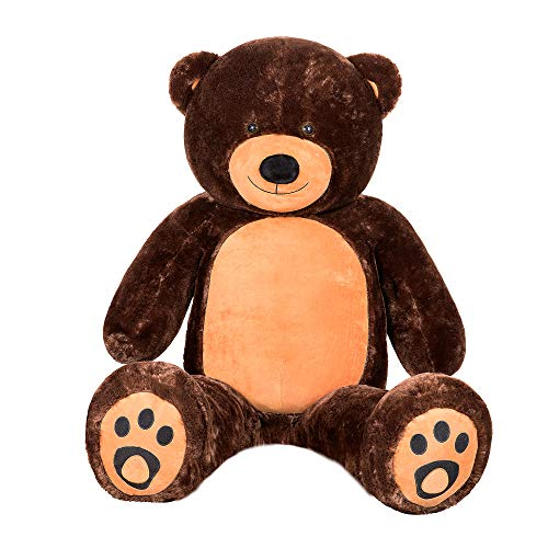WOWMAX 6 Foot Giant Huge Life Size Teddy Bear Cuddly Stuffed Plush Animals Daney Teddy Bear Toy Doll for Birthday Christmas Dark Brown 72 Inches from WOWMAX