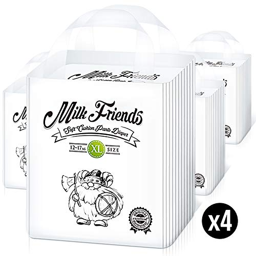 Milk Friends - Disposable Hypoallergenic Easy Pull Up Pants (Size 5, Count 88)