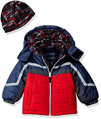 df4546767810 London Fog Boys  Active Heavyweight Jacket with Ski Cap