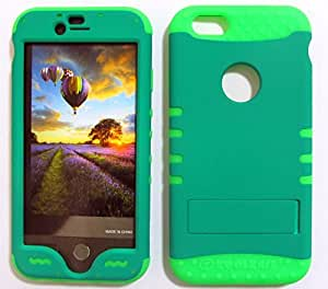 CellTx Shockproof Hybrid Case For Apple (iPhone 6) and Stylus Pen, Green Soft Rubber Skin with Hard Cover (Non Slip, Emerald Green) AT&T, T-Mobile, Sprint, Verizon, Boost Mobile, U.S Cellular, Cricket by mcsharks