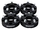 Supreme Suspensions - (4pc) 2007-2016 Jeep Wrangler JK 2'' Hub Centric Wheel Spacers 5x5'' (5x127mm) with Lip + 1/2''x20 Studs [Black]