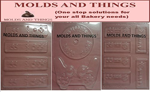 Video Game Controller Chocolate Mold - SET of 3