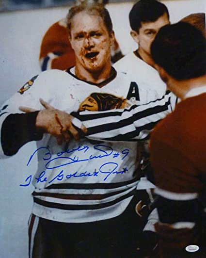JSA The Golden Jet Inscription Bobby Hull Autographed Signed Chicago Blackhawks Jersey