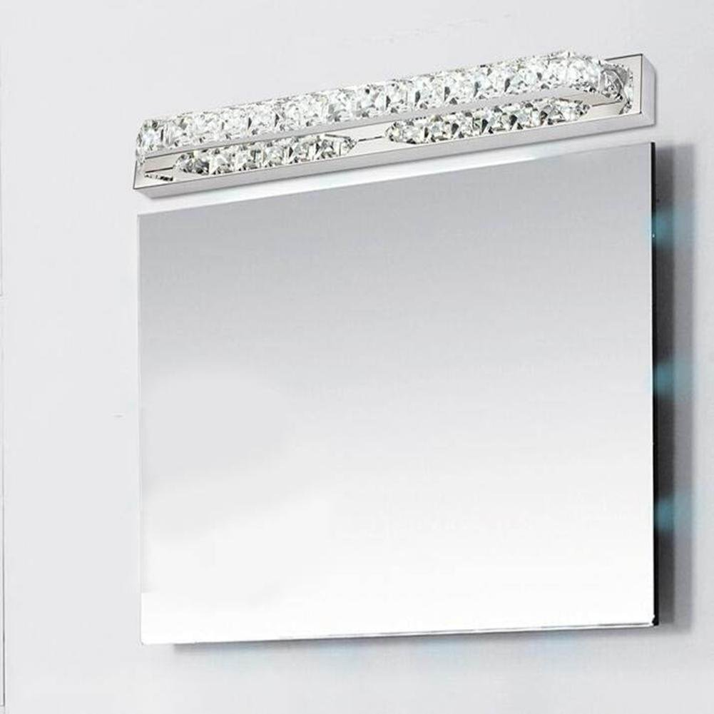 ZHY Crystal Mirror Headlights Fashion Simple LED Bedroom Bathroom Bathroom Mirror Lamp Luxury Lamps, A, 40cm by ZHY (Image #3)