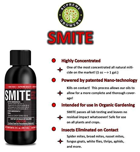 SMITE Spider Mite Killer Supreme Growers, All Natural Pesticide...