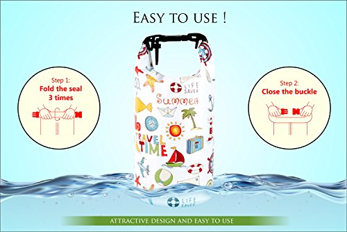 NVcompany Waterproof Bag - Dry Bag Kayaking and Camping 10L Roll Top Keeps Your Gear Dry While Rafting Boating at Beach and Hiking by NVcompany (Image #4)