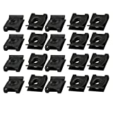 uxcell® 20pcs Spring Steel Speed Fastener U Nut Clip Black for M5 / ST4.8 Screw Bolt