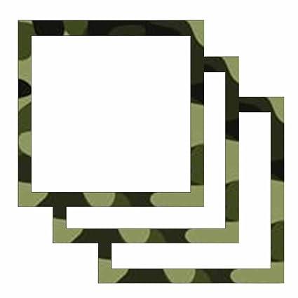 Amazoncom Camouflage Print Border Sticky Notes Military Theme