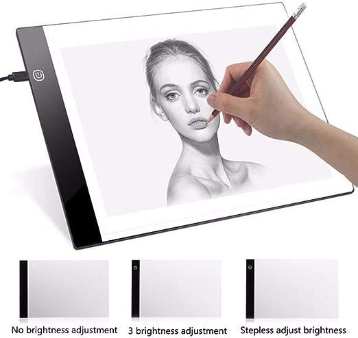 Mesas De Luz Para Calcar Caja De Luz Led Artist Thin Art Stencil Board Tracing Drawing Board Plat Led Drawing Board Usb Powered A4 Copy Station: Amazon.es: Hogar