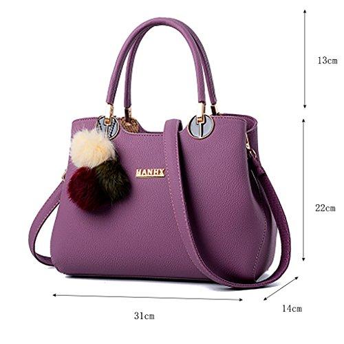 Hand Bag Ladies Handbag la CLOTHES Bag Big Bag coréenne Purple Portable Couleur High version de Dark Wild Nouvelle Fashion Capacity Noir Shoulder vague 5qdSxUwOS