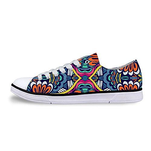 Per Te Disegni Alla Moda Unisex Stripe Wave Print Scarpe Basse Basse Superiori Alla Moda Sneaker Alla Moda Lace-up Multi A2