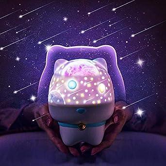 Lámpara proyector de mesita de noche creativa 3D Bluetooth música ...
