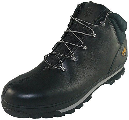 Timberland Mens Splitrock PRO Lace up Leather Work Safety Boot Negro (Black)