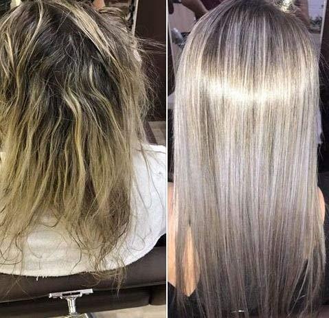 Tratamiento de Alisamiento Brazilero de Tanino pelo Rubio Hair Treat ...