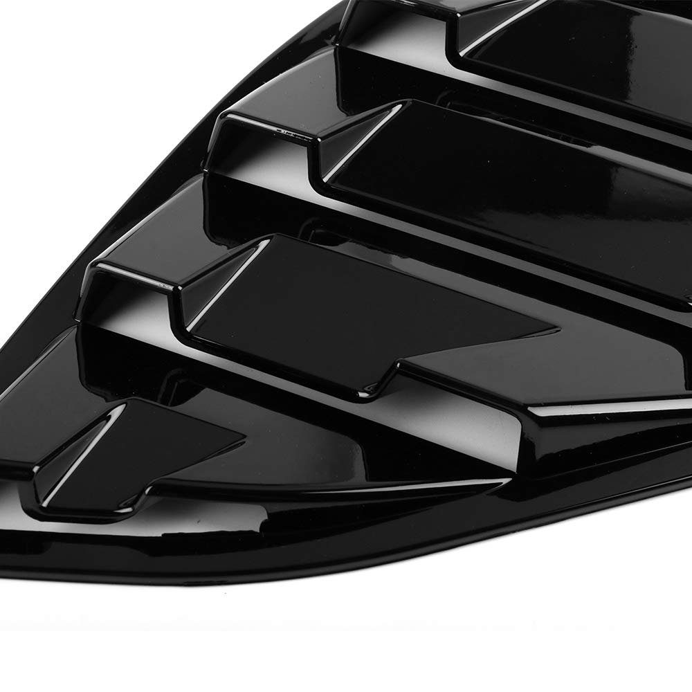 Side Quarter Window Louvers Fits 2018 Honda Accord OE Style Gloss Black ABS Panel By IKON MOTORSPORTS