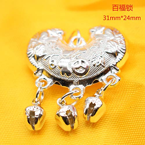 - diy bracelet accessories bag longevity lock necklace pendant chain peace rich tibetan style jewelry hand (bedford lock satin 31 x 24
