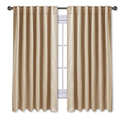 NICETOWN Back Tab/Rod Pocket Solid Blackout Curtain Drape
