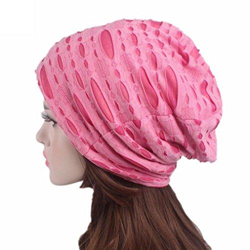 NEWONESUN Unisex Hedging Cap, Retro Holes Hat Cap Pile Cap Flat Cap (Hot Pink) Bamboo Bobble Head