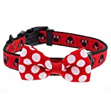 Disney Parks Minnie Mouse Polka Dot Bow Dog Pet Collar Small