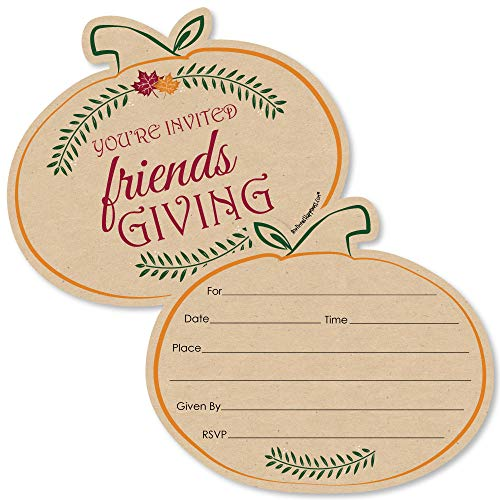 Best Invitation Friends (Friends Thanksgiving Feast - Shaped Fill-in Invitations - Friendsgiving Party Invitation Cards with Envelopes - Set of 12)