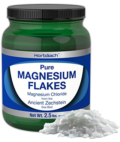 Horbaach Magnesium Chloride Flakes 2.5 lbs | Pure Genuine Ancient Zechstein Flakes | Outperforms Leading Epsom Salts | Rapid Absorption for Foot, Body and Bath Soaks ()