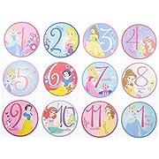 Disney Baby Girls Character Milestone Gift Set, Princess Milestone Stickers, Onesie Packaging, No Size