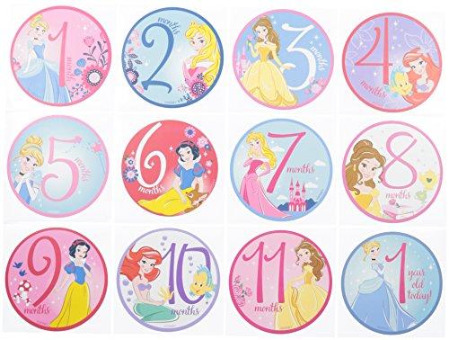 Bella Onesie (Disney Baby Girl's Character Milestone Gift Set Pants, Disney Princess Milestone Stickers, Onesie Packaging, No Size)