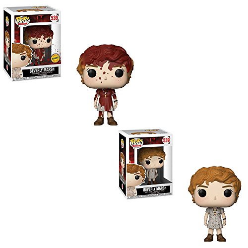 (Funko POP! Movies IT: Beverly Marsh LIMITED EDITION CHASE and Beverly Marsh NON CHASE Toy Action Figures - 2 Pack BUNDLE )