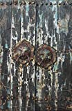Empire Art Direct ''Antique Wooden Doors 2'' Mixed Media Hand Painted Iron Wall Sculpture by Primo