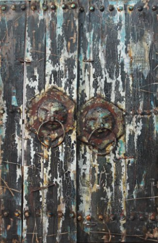Empire Art Direct ''Antique Wooden Doors 2'' Mixed Media Hand Painted Iron Wall Sculpture by Primo by Empire Art Direct