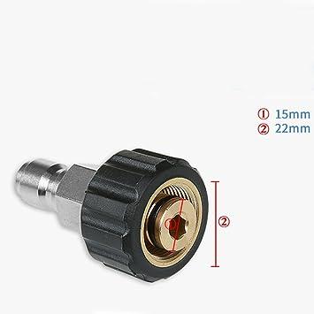Nettoyeur Haute Pression Laiton Tuyau Adaptateur Connecteur 22 mm m à 22 mm M