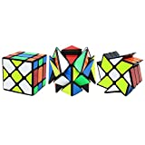 4x4 fisher - 3- Packed 3x3 YJ Fluctuation Angle Puzzle Cube: Crazy Fisher cube Magic cube 3x3 -3x3 YJ Wheel Puzzle Cube - 3x3 YJ Square King Puzzle Cube
